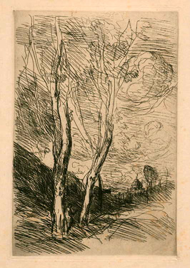 Camille Corot, the Florentine Dome, etching