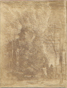 Corot, Dante and Virgil, clich� verre