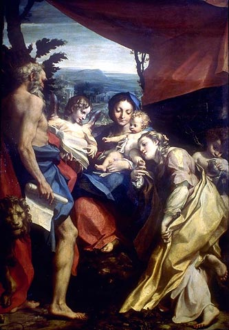 Correggio, Virgin and Child with Saint Jerome and Saint Catherine, Parma