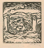 Othon Friesz, The Oasis, woodcut