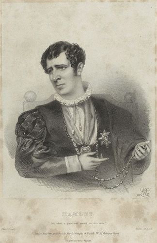 Charles Kemble as Hamlet in 1840