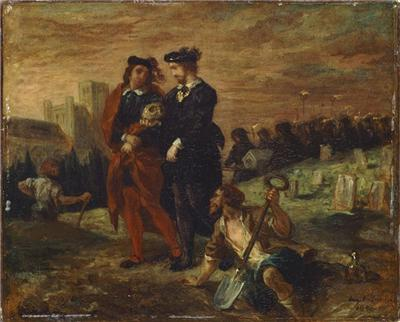 Hamlet and Horatio in the Graveyard, Louvre