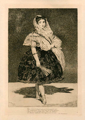 Edouard Manet, Lola of Valencia, etching
