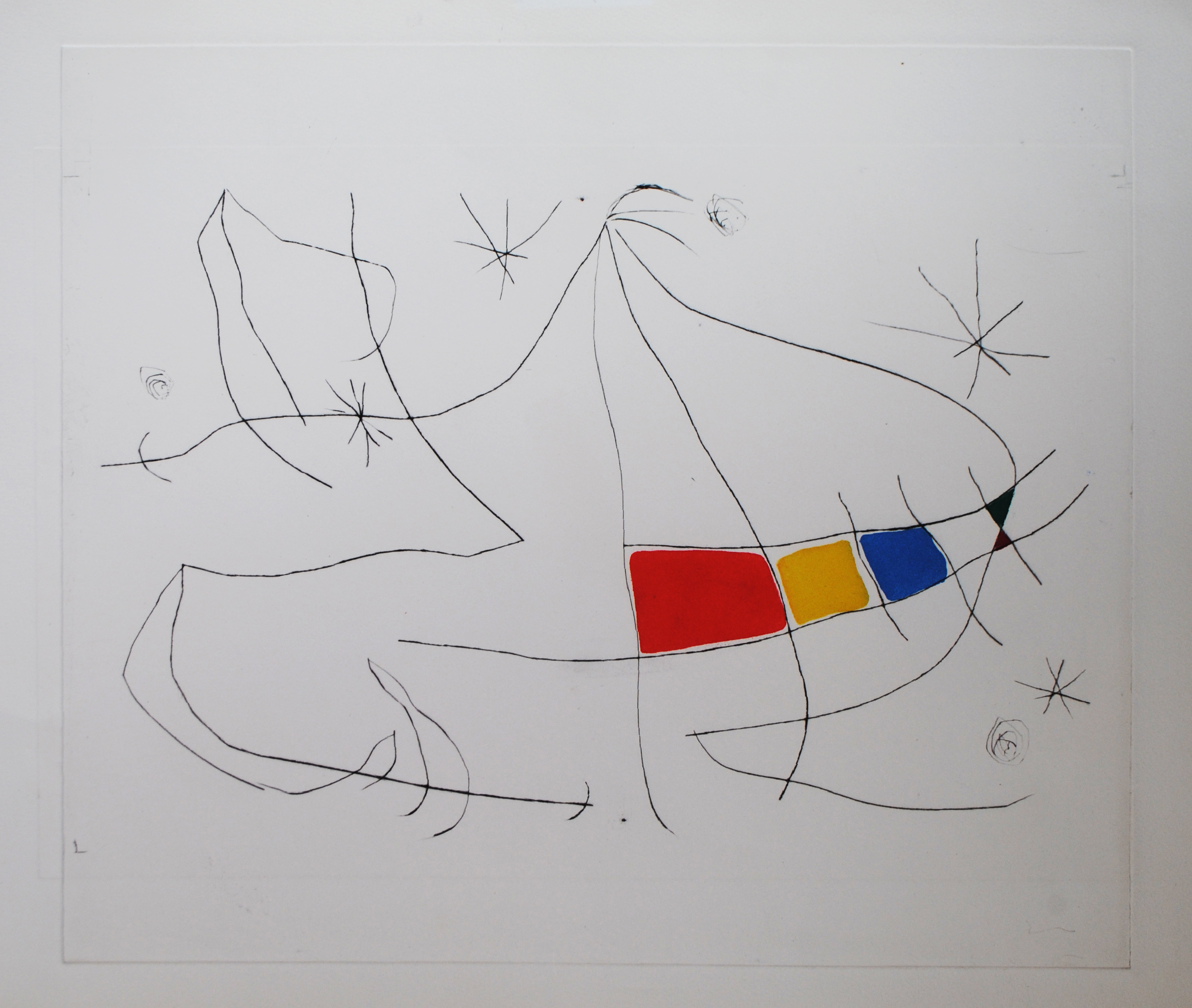 Miro, L'Issue Derobée, drypoint with aquatint, D691