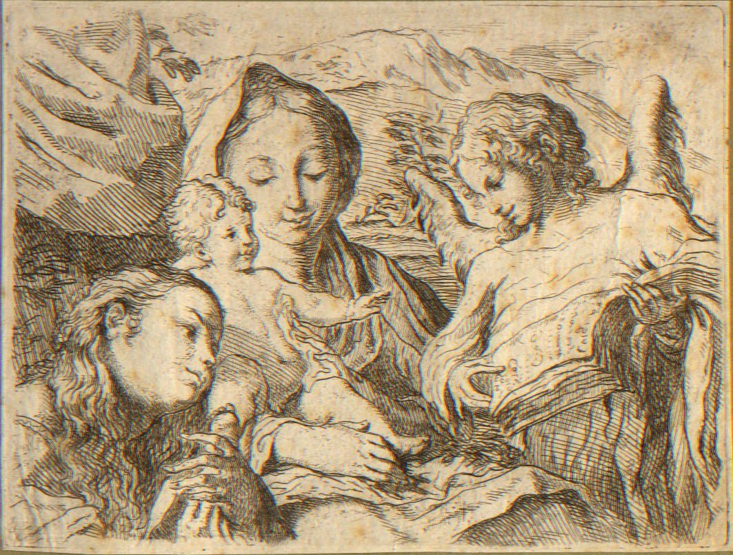 Virgin and Child with Saint Catherine, etching