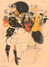 Jacques Villon, Dancing Girl at the Moulin Rouge, lithograph